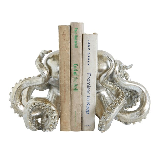 Resin Octopus Bookends (Set of 2) by Breakwater Ba