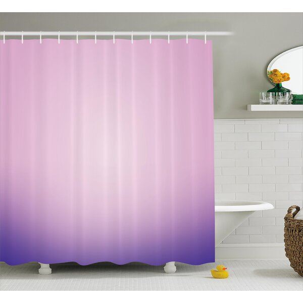 Fred Pink and Purple Ombre Shower Curtain by Harriet Bee