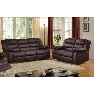 Koury Faux Leather Reclining Living Room Set by Red Barrel Studio®