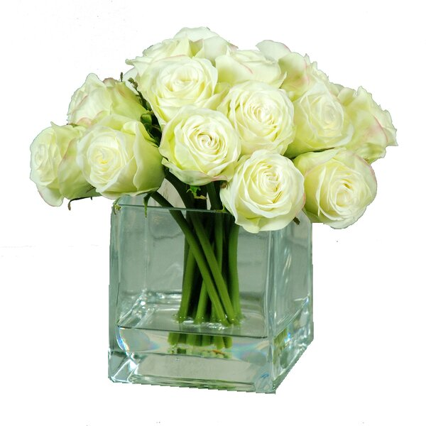 Bub Rose Floral Arrangement in Decorative Vase by Jane Seymour Botanicals
