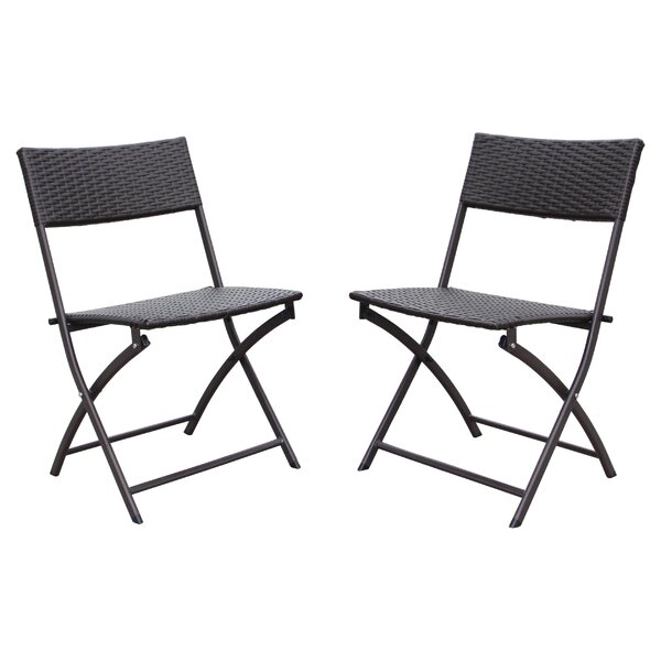 Maryanne Folding Resin Wicker Patio Chair (Set of 2) by Ivy Bronx