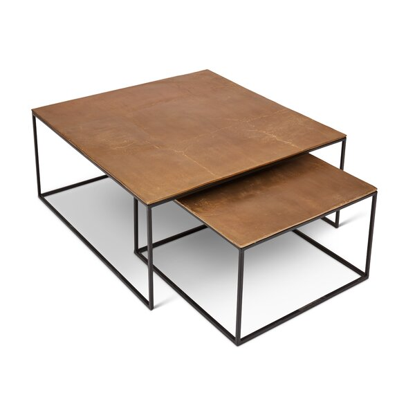 Rhodes 2 Piece Coffee Table Set with Tray Top by Williston Forge
