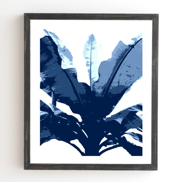Bananarama Navy Framed Graphic Art by East Urban Home