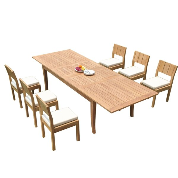 Lyell 7 Piece Teak Dining Set by Rosecliff Heights