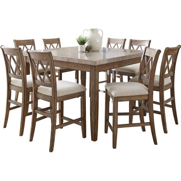 Clearmont 9 Piece Dining Set by Three Posts