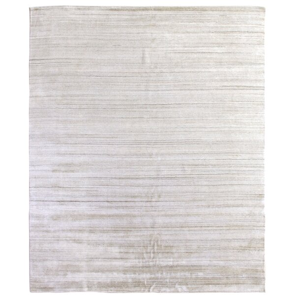 Sanctuary Hand Woven Silk Ivory Area Rug by Exquisite Rugs
