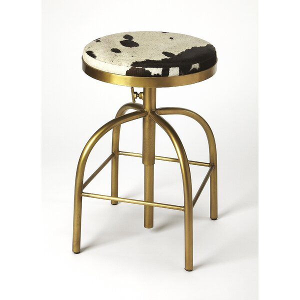 Johanna Adjustable Heigh Swivel Bar Stool by Foundry Select
