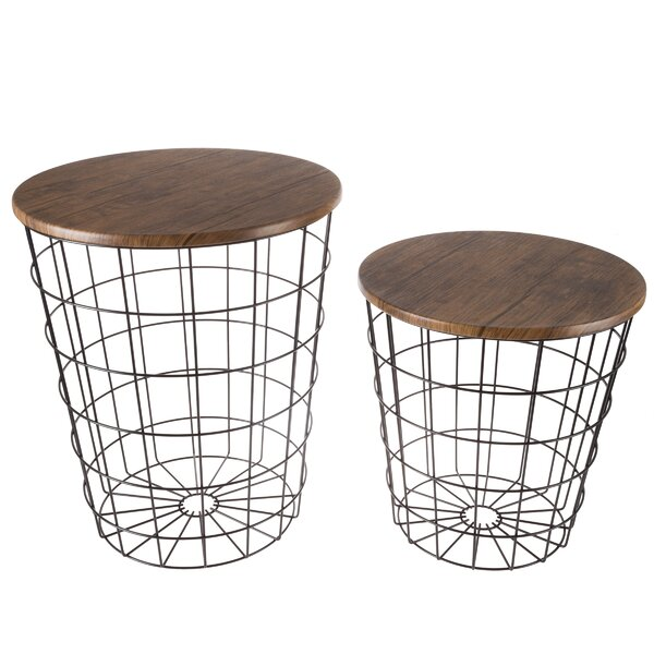 Mcgowen 2 Piece End Table Set By Wrought Studio™