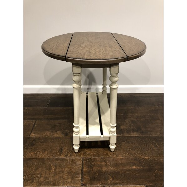 Shumway Drop Leaf End Table by August Grove