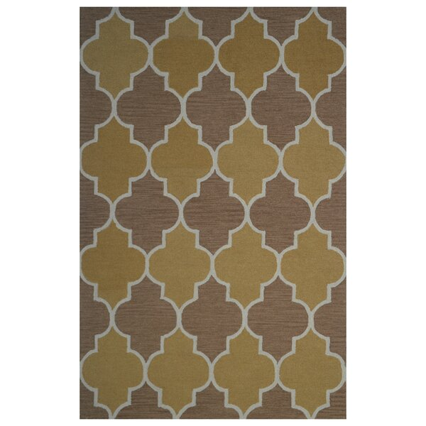Wool Hand-Tufted Gold/Brown Area Rug by Eastern Weavers