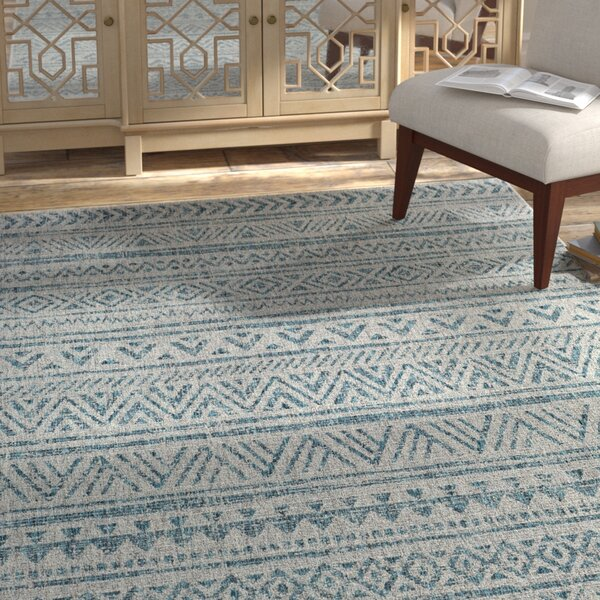 Alfred Aqua Indoor/Outdoor Area Rug by Langley Street