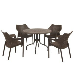Miskell Commercial Grade 5 Piece Dining Set by Bloomsbury Market