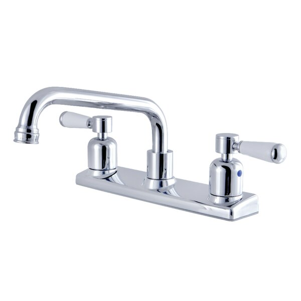 Paris Pull Out Double Handle Kitchen Faucet by Kingston Brass