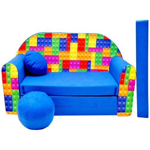 Kindersofa Delao mit Pouf Roomie Kidz | Kinderzimmer > Kindersessel & Kindersofas | Roomie Kidz