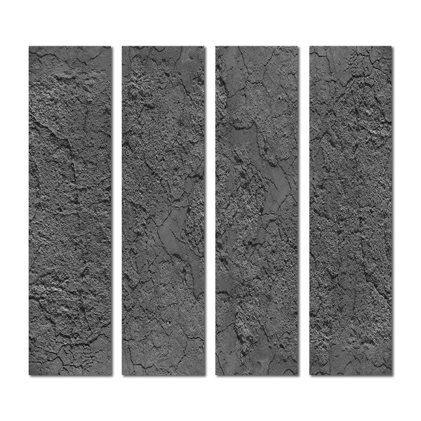 3 x 12 Beveled Glass Subway Tile in Dark Gray by Upscale Designs by EMA