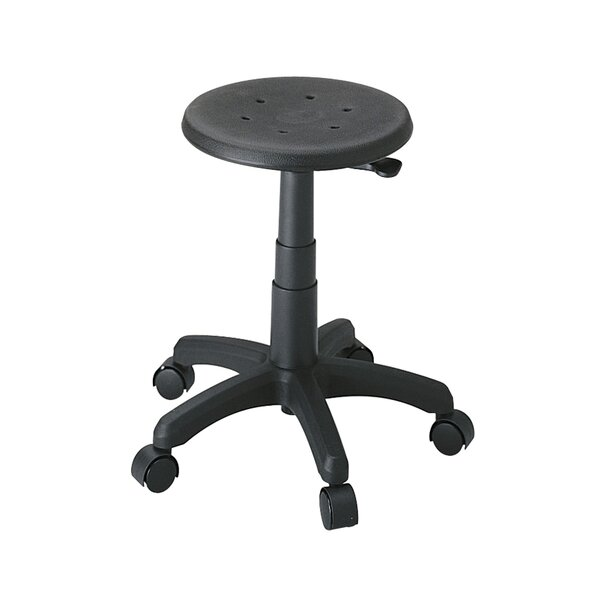 Height Adjustable Office Stool with Casters by Safco Products Company