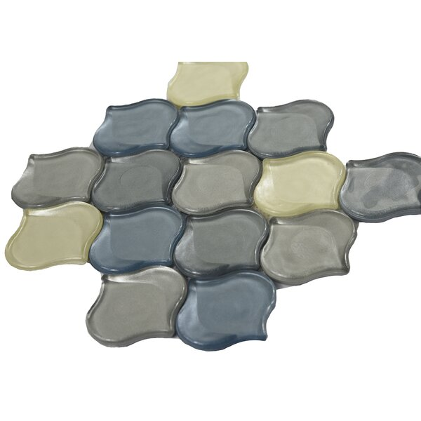 Glass Mosaic Tile in Blue/Yellow/Gray by Byzantin Mosaic