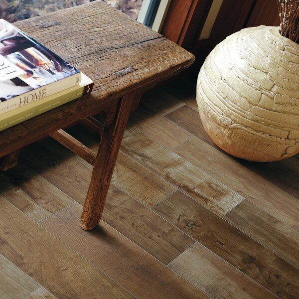 County Line 6 x 36 Porcelain Field Tile in Whiskey by PIXL
