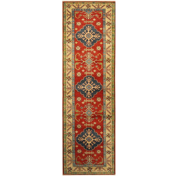 One-of-a-Kind Becquere Hand-Knotted Runner 2'10 x 9'10 Wool Red Area Rug