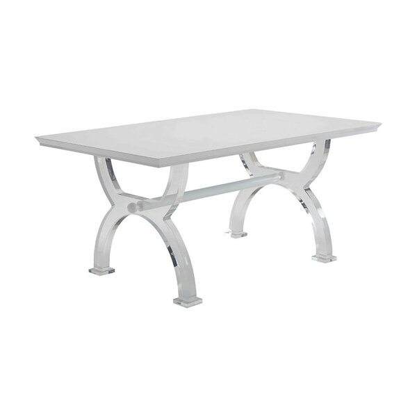 Ulmer Modern Rectangular Solid Wood Dining Table by Orren Ellis