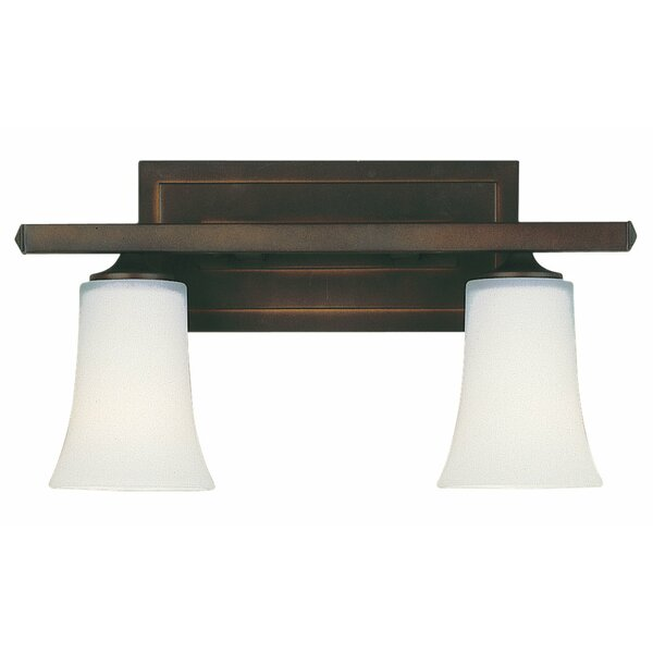 Boulevard 2-Light Vanity Light by Feiss