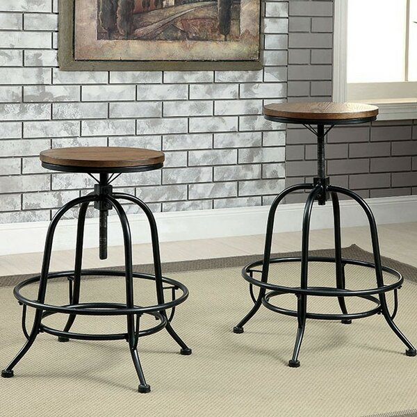 Dupuy Adjustable Height Swivel Bar Stool (Set of 2) by 17 Stories