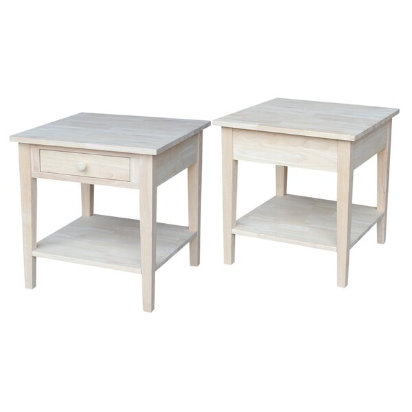 Greenbrier End Table by Rosecliff Heights