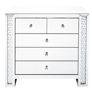 Lasater Crystal 5 Drawer Accent Chest by Rosdorf Park