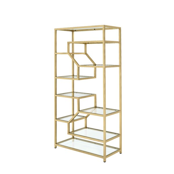 Toby Geometric Bookcase By Everly Quinn