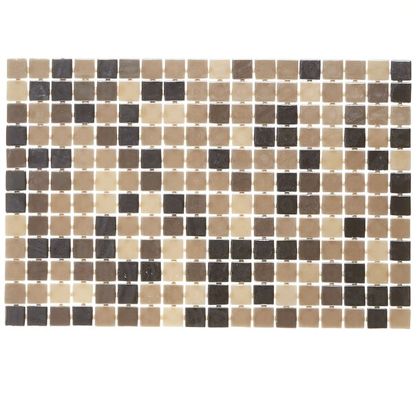 Lexington 12 x 12 Glass Mosaic Tile in Pearl Brown by Itona Tile