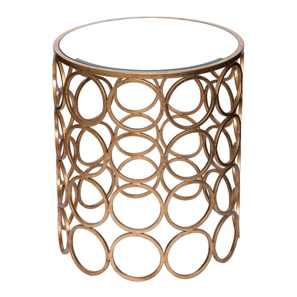 Chaplin Stacked Ring Mirrored End Table by Wildon Home ®