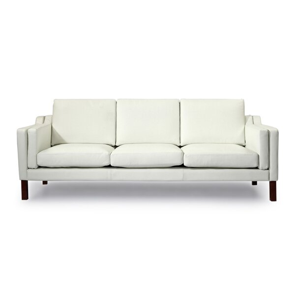 Rolando Mid Century Modern Leather Sofa by Corrigan Studio