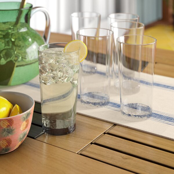 Livermore 21.5 oz. Plastic Everyday Glasses (Set of 6) by Beachcrest Home