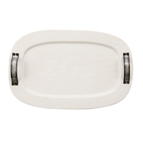 Galvanized Tin Handle Platter by Mud Pie™