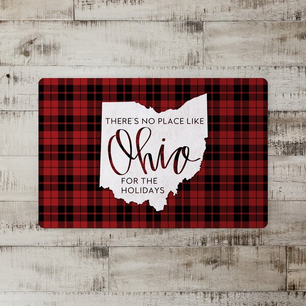 Taniya There's No Place Like Ohio for the Holidays Kitchen Mat
