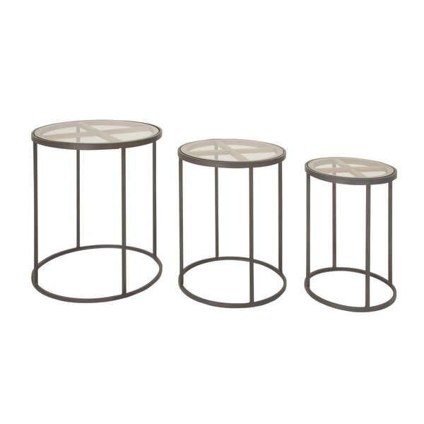 Orianna Contemporary 3 Piece Nesting Tables By Union Rustic Top Reviews