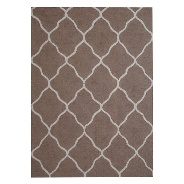 Hand-Tufted Brown/Beige Indoor Area Rug by Herat Oriental