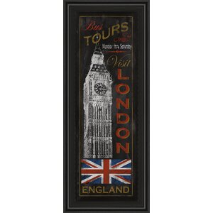 London Tours by Conrad Knutsen Framed Graphic Art by Classy Art Wholesalers