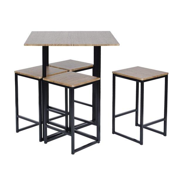 Malave 5 Piece Pub Table Set by Ebern Designs