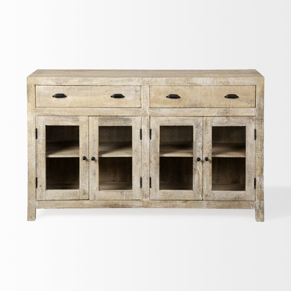 Scull Theodore Wooden 4 Door Cabinet by Gracie Oaks