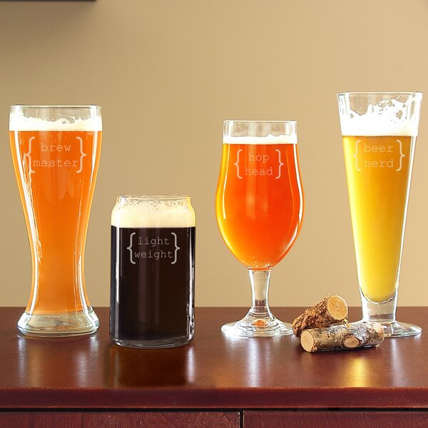 4 Piece Specialty Beer Glass Set by Cathys Concepts