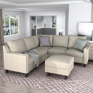 84 Wide Corner Sectional With Ottoman by Latitude Run®