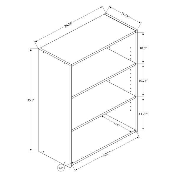 Blue Hill Standard Bookcase by Ebern Designs