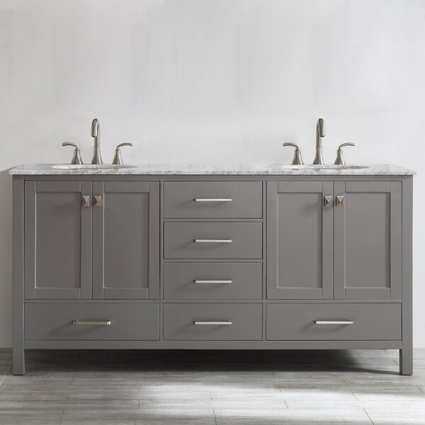 Newtown 72 Double Bathroom Vanity Set by Beachcrest Home