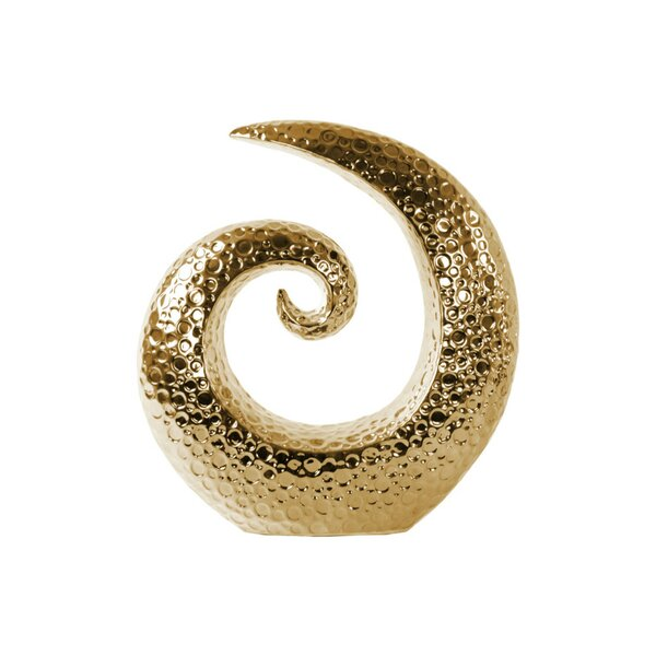 Thadine Embossed Ceramic Spiral Sculpture by World Menagerie