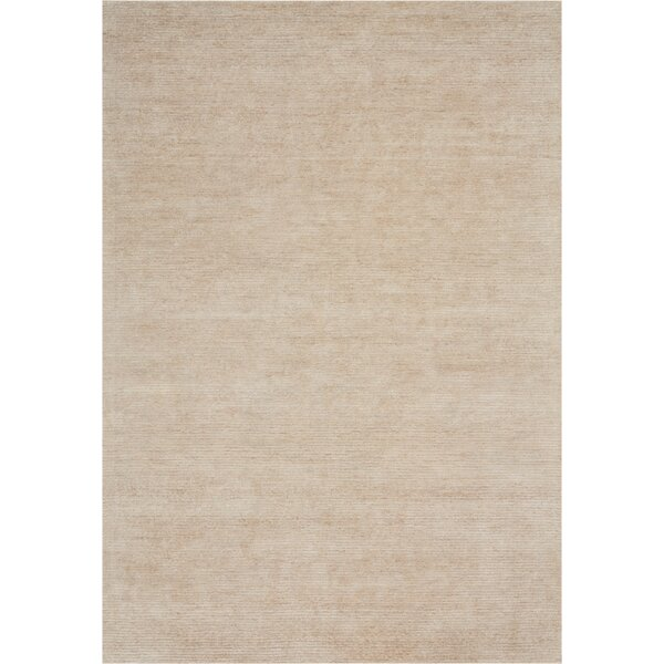 Romans Solid Hand-Tufted Linen Area Rug by Highland Dunes