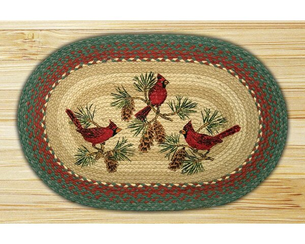 Cardinals Printed Area Rug by Earth Rugs
