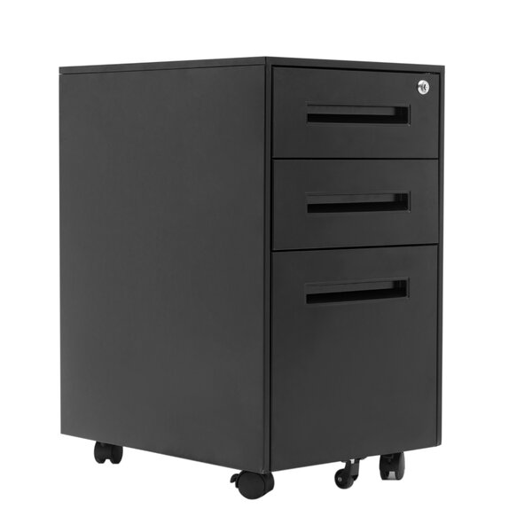 Alexio 3 Drawer Mobile Vertical Filing Cabinet