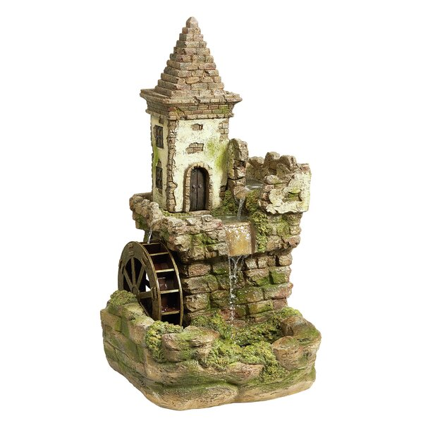 Resin Fairy Village Waterwheel Fountain by Wildon Home ®