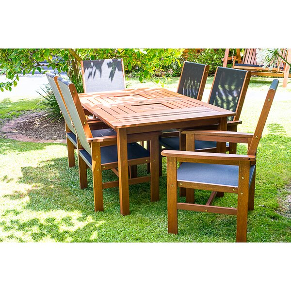 Hipple 7 Piece Dining Set by Brayden Studio